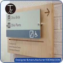 Casting Craftsman Customized stainless steel/acrylic door plate for office, room number sign