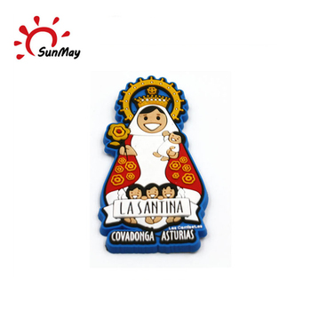 Wholesale Spain religious Covadonga souvenir 3d pvc fridge magnet for sale