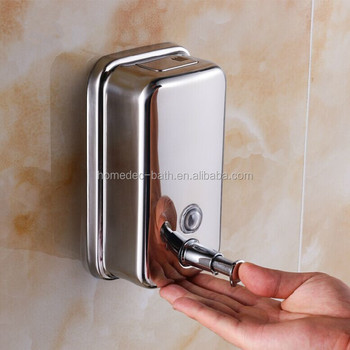 Stainless Steel Soap Hanging Bottle 800ml Chrome Bathroom And Kitchen Soap Dispenser Buy Bathroom Square Soap Bottle Square Soap Bottle Ss304 Square