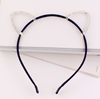 Child Girls Rhinestone Cat Ears Headbands Hair Hoops Clasps Kids Fashion Hair Bands for Costume Party