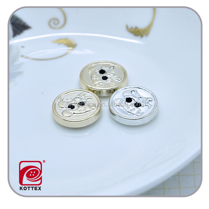 gold shirt button, flat back round abs plastic chrome plating buttons for garment