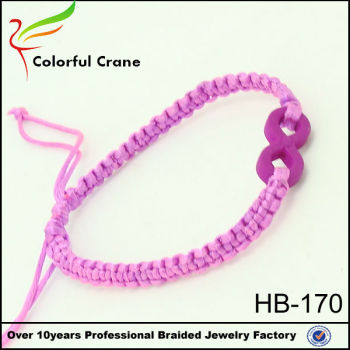 Infinity Symbol Meaning Charm Bracelet For Lady Hot Ing Braided Colors Handmade In China Pulseras