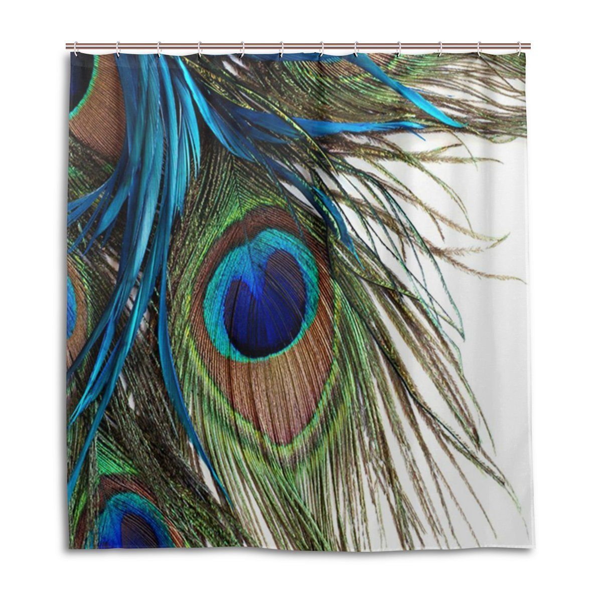 Buy Jstel Decor Shower Curtain Peacock Feathers Pattern