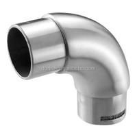 inox stainless steel 304 316 railing 90 degree handrail pipe elbow