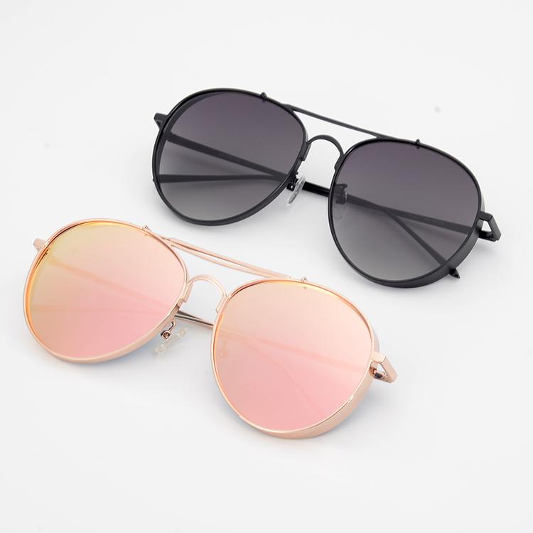28cb8953b363 2019 Metal Frame Double Bridge Sun Glasses Vintage Thickness Sunglasses -  Buy Vintage Thickness Sunglasses