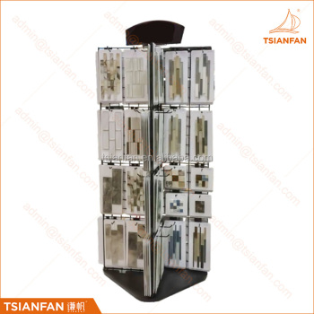 Custom mosaic tile display stand high capacity metal display rack