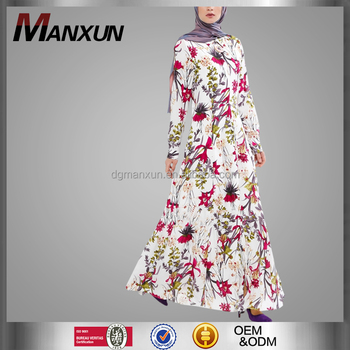 New Style Women Fashion Digital Printing Muslim Dress High Quality New Model Abaya In Dubai China Middle East Islamic Abaya
