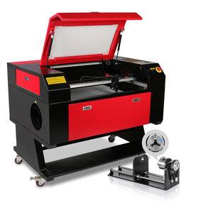 Sihao 80W CO2 Laser Engraver Engraving Cutting Machine 700*500mm with Rotary Axis 3d laser engraving machine