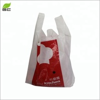 Wholesale Cheap Price Custom Plastic T -Shirt Carry Shopping Bag Packaging Design With Own Logo