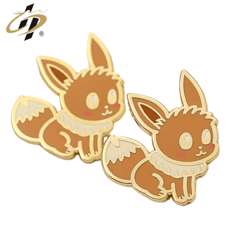Ingenious Novelty product High quality customize gold hard enamel Little Fox cartoon animal  lapel pin