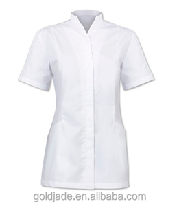 New Design Women Beauty and Spa Tunic Uniform Custom Salon Tops Wholesale Workwear