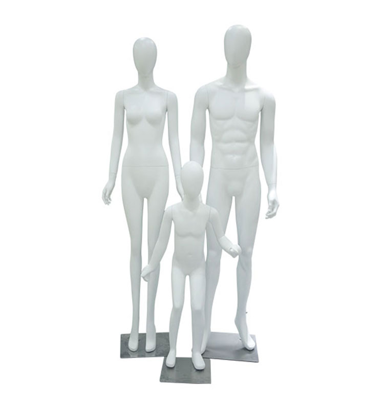 Fashion style white dummy male/female/child fiberglass mannequin