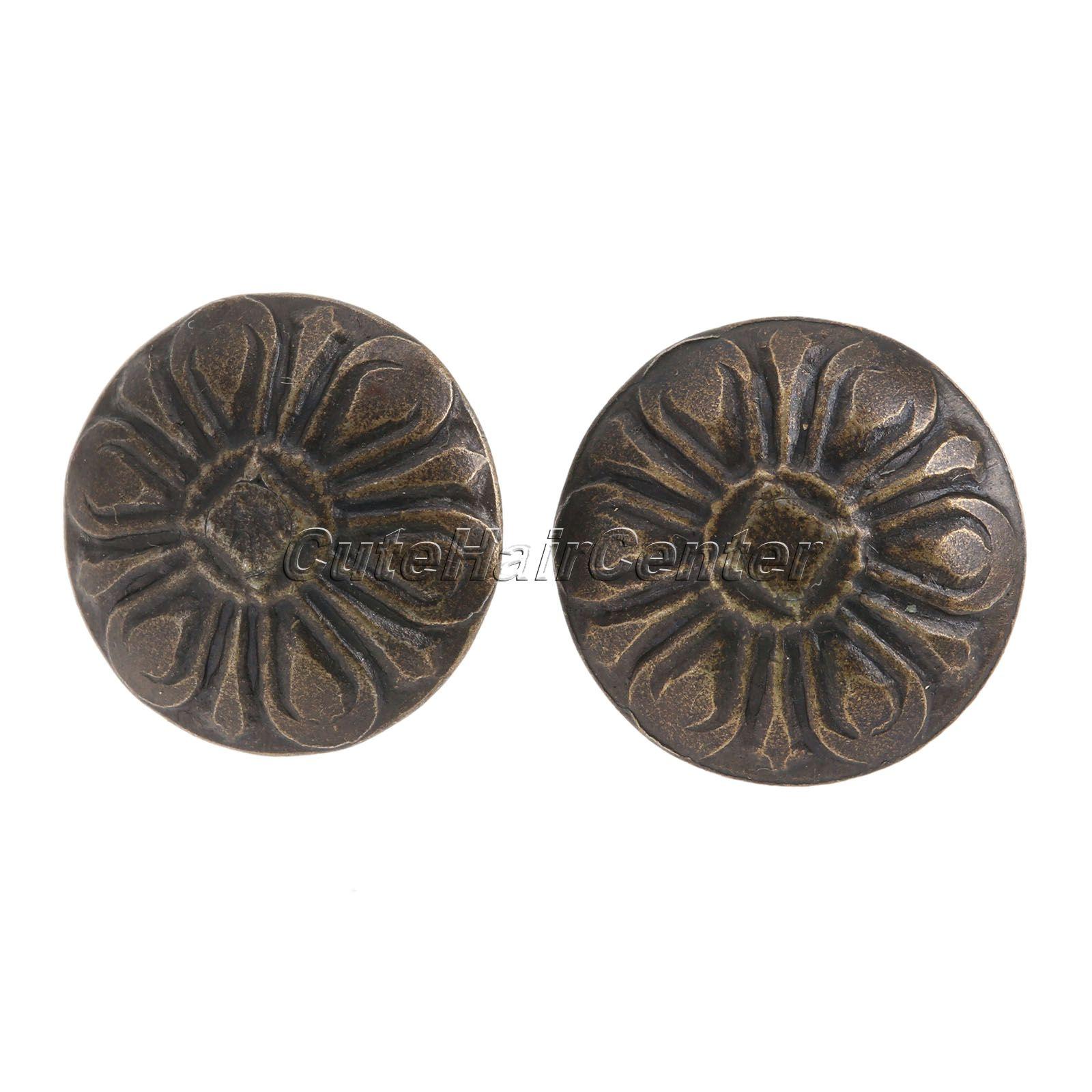 Hot Selling 100Pcs Iron <font><b>Elegant</b></font> Bronze Upholstery Nails Tacks Studs Vintage Style Furniture Fix For <font><b>Home</b></font> <font><b>Decoration</b></font>