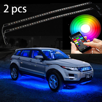 2pc Multi-Color Bluetooth App Control Multi Color Super bright waterproof underbody LED Car Light Kit.