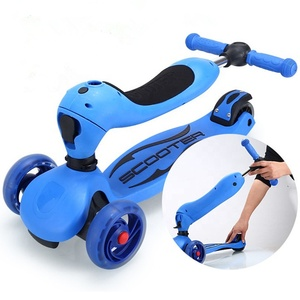 European magic easy foldable child scooter car/adjustable height and seat kids foot scooter/3-wheel mini child foot scooter