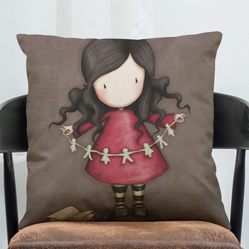 Designed For Lonely Pattern Cotton Throw Pillow Case Home Sofa Cushion Car