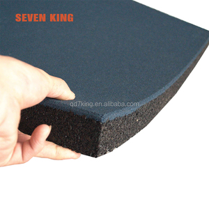 China factory shredded tire chips outdoor play mat surface tile floor rubber paver mat