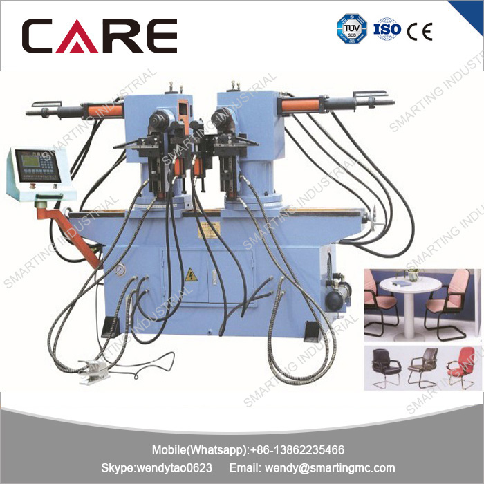 SW38A Automatic double head pipe bending machine with 90 degree rotation for U shape or W shape