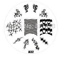 2015 new A Series A32 Nail Art Polish DIY Stamping Plates Image Templates Nail Stamp Stencil