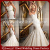 1923 Mermaid Appliqued Beaded European Fashion Wedding Dress