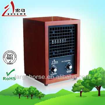 Smart wooden cabint style air purifier with Ionizer and ozone