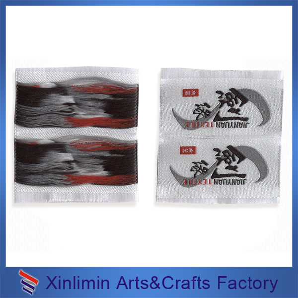 Soft comfortable leather woven labels for garment