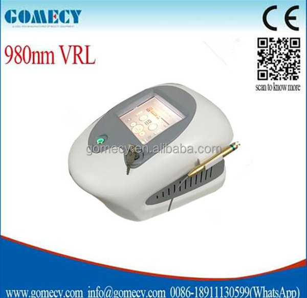 980nm medical diode laser for treatment of compound nevus and fat particles / portable spider vein removal machine