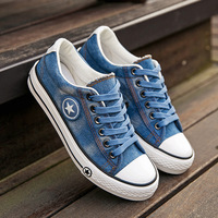 Factory Price Fashion Casual Star Denim Canvas Shoes For Women