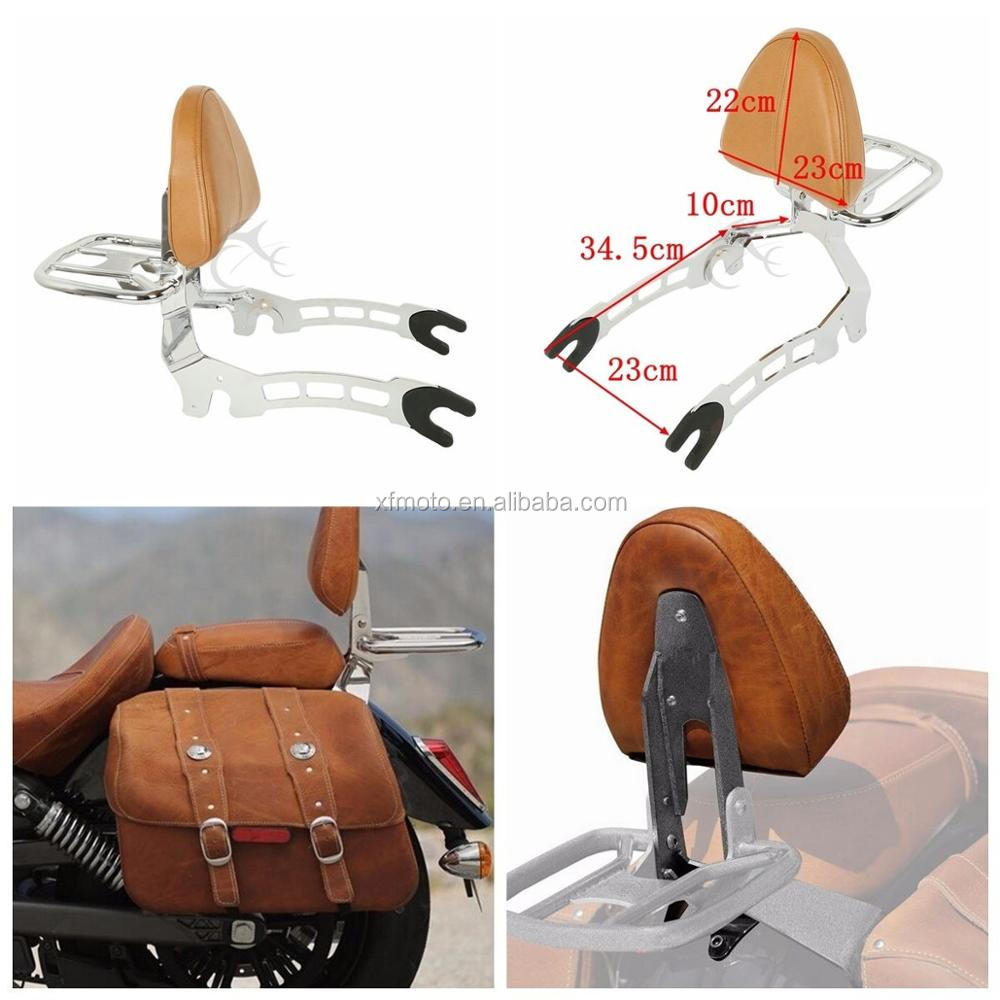 TCMT XF2906F04-E-SET Pinnacle Sissy Bar Passenger Backrest Mounting Spools Fit 2015-2018 for Indian Scout