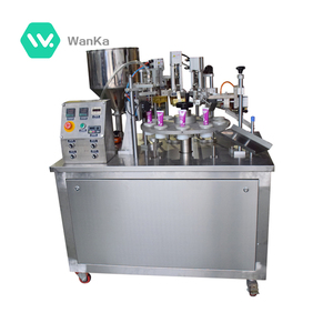Soft and ointment filling and sealing machine and cosmetic plastic tube filling and sealing machinery