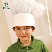 Hot sale new design white nonwoven cheap chef's hat child's cooking chef cap for promotion