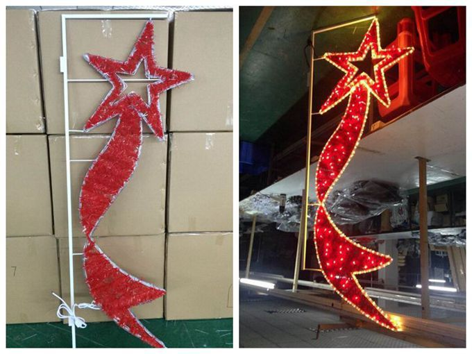 Outdoor Colorful Flower Christmas Decorations Led Pole Mounted ...