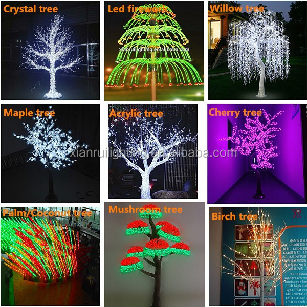 Modern Style Artificial Palm Tree Floor Lamp