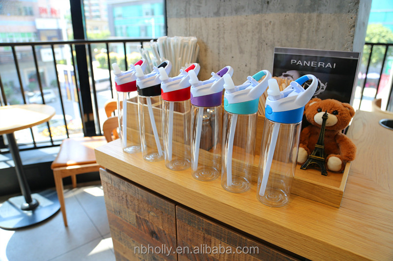 600 ml vitality straws kettle drinking outdoor sports water bottle