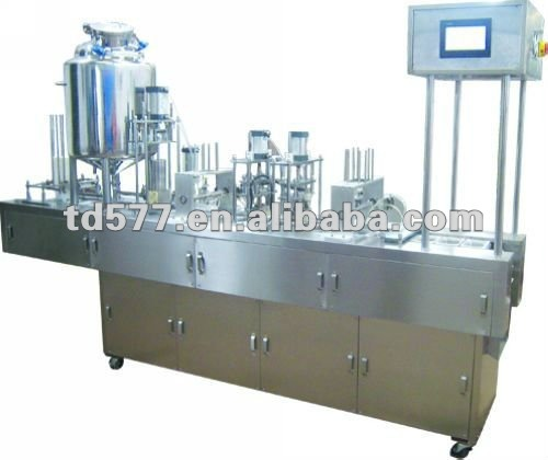 QCF-2 Line Touch Screen Iodine Bottle Filling&Sealing Machine