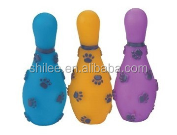 indoor sport dog playing colorful pet paw pattern bowling toy with high quality