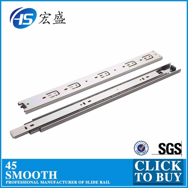 Furniture High QualityTelescopic Channel 45mm Rainbown Plating sliding door hardware