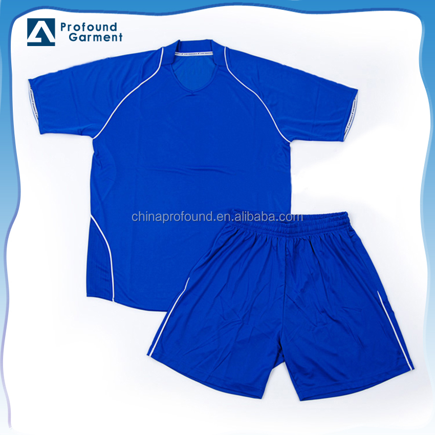 OEM blanc plaine football shirt de football jersey formation sport costume en gros en chine