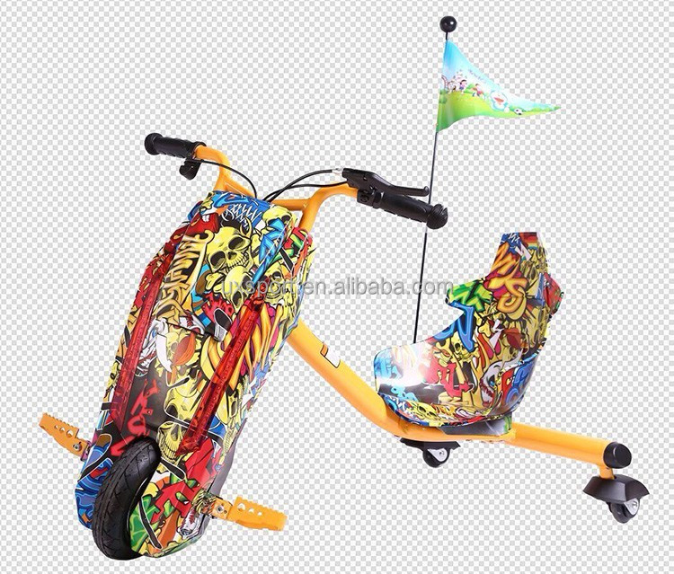 Hot sale LED light and bluetooth music 3 wheel trike scooter self balance children electric drifting scooters