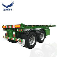 QUEST 2axles 3 axles chassis 20ft 40ft container chassis trailer for sale