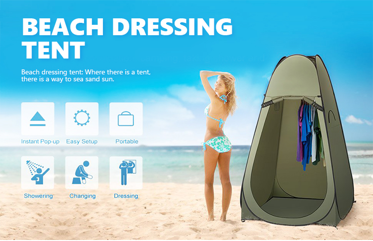 Colapsable Spring Steel Wire Pop Up Tent Privacy Single Person Beach ...