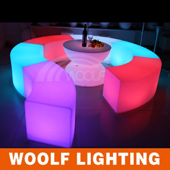 Portable Led Floor Nightclub Seating Chairs