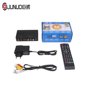 JUNUO DVB-T2 Factory supply TV BOX DVB-T2 Decoder 1080p flame sat dvb-t2  receiver