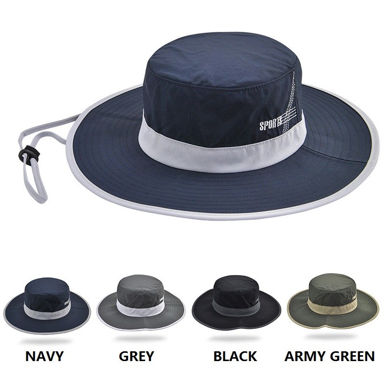 Fast Dry Foldable Fishing Cap Sport Bucket <strong>Hats</strong>