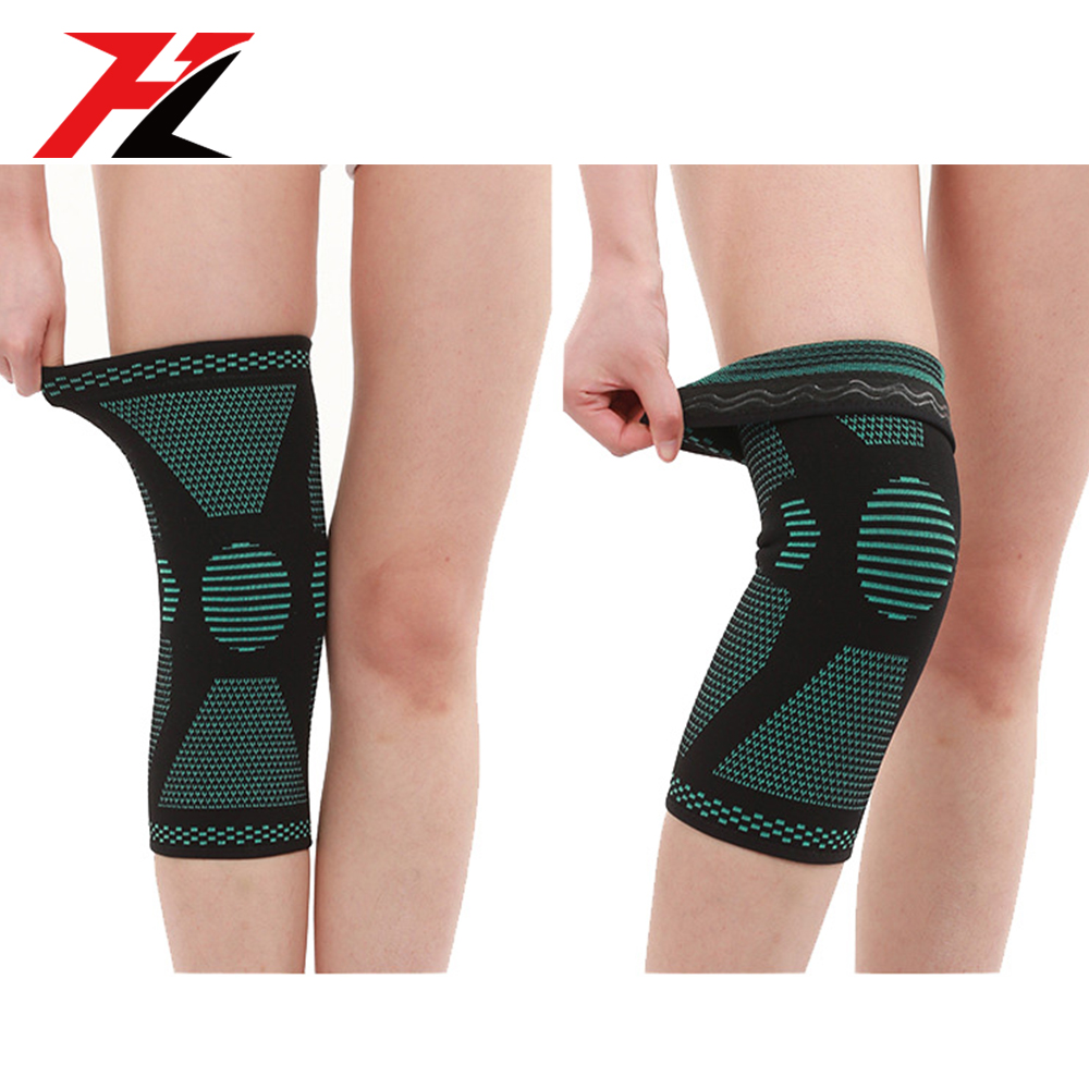 Popular Fashion Style Elbow Support And Elastic Warm Long Antislip Flexible Knee Sleeve Brace