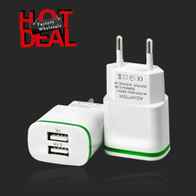 quickest phone charger patent white & green light wall charger