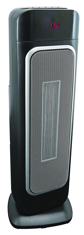 "Comfort Zone CZ523RBK 23"" Ceramic Tower Heater"