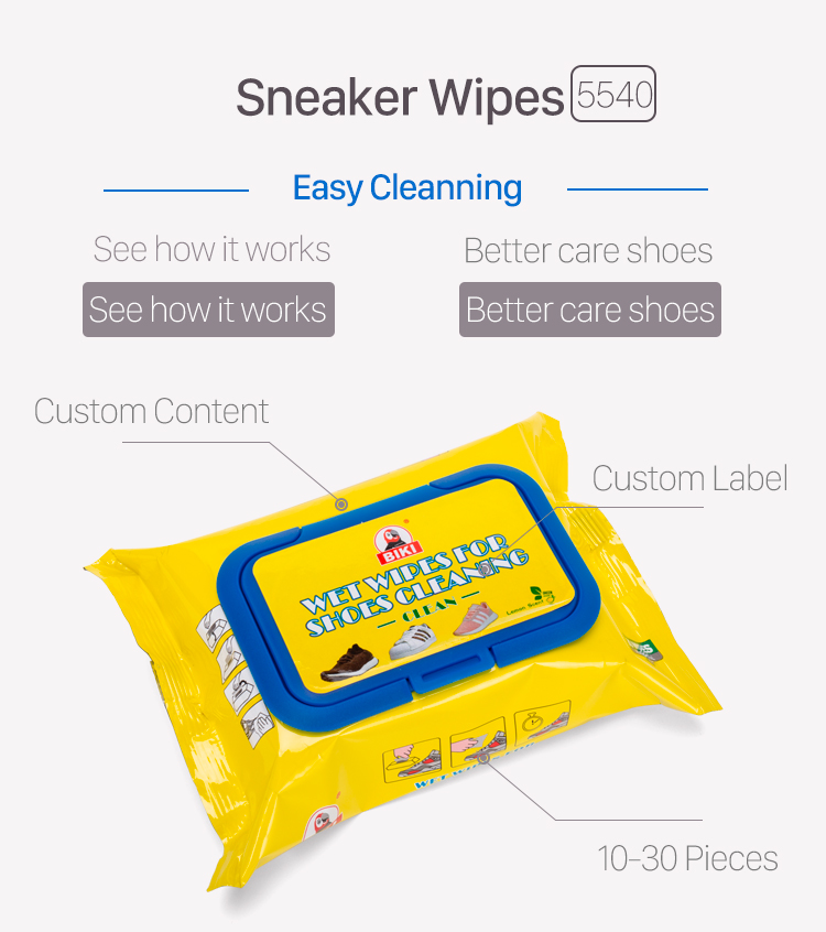 2019 amazon hot sales Sneaker shoe cleaning wipes