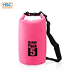 Cheap Colorful Outdoor Lightweight waterproof Camping dry bag 5L/Customize beach bag for swimming diving ocean pack
