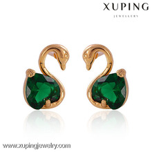 23280 Fashion high quality crystal 18k gold fashion earring designs new model earrings